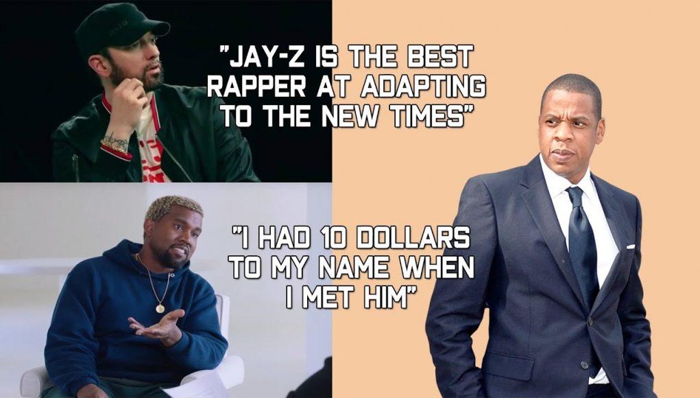 Rappers Talking About Jay Z (eminem, Drake, Kanye West, Nipsey Hussle, J Cole & More)