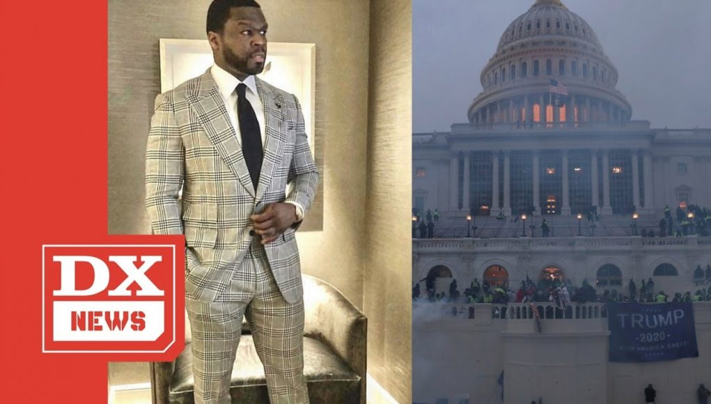 50 Cent Reacts To Trump Supporters Taking Over U.s. Capitol Building