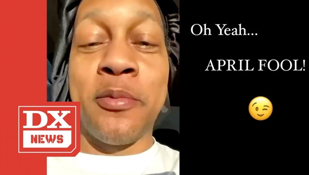 dj quik pretends he got shot twice as an april fools joke