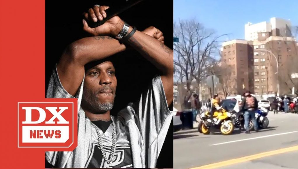 ruff ryders motorcycle gang rides up to white plains hospital to do a dmx tribute