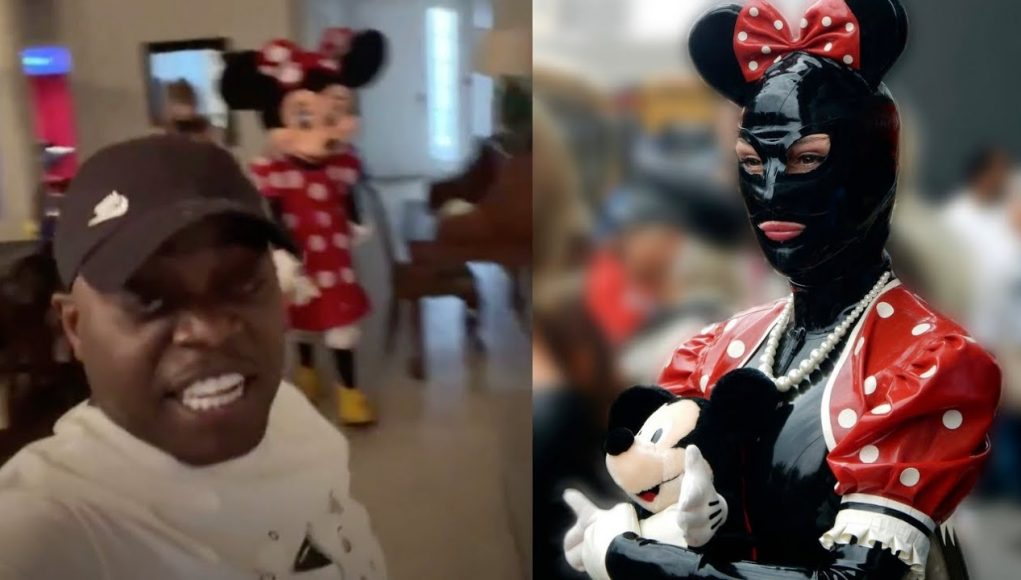 peewee longway obsessed with minnie mouse at his daughter birthday party